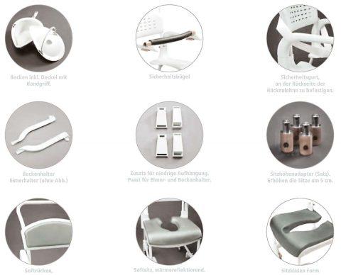 Dusch- und Toilettenstuhl Clean Zubehör