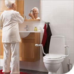 Supporter Armlehnen für die Toilette